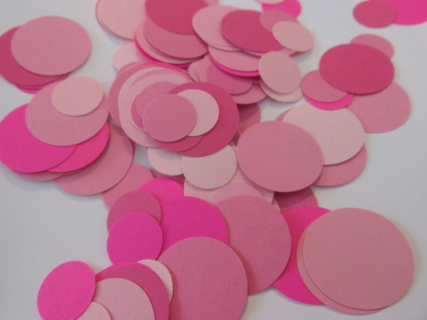 pink confetti baby shower confetti paper by scrapstarz on etsy