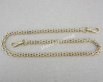 "Gold Color Metal Chain - 0.45"" wide"