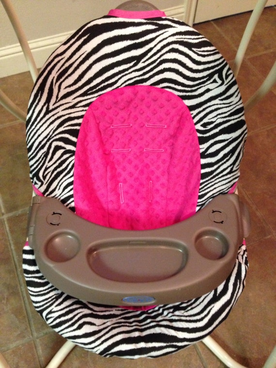 Zebra And Hot Pink Baby Swing Cover By Kimswhimsy On Etsy
