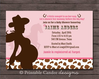 items similar to boots, class and a lil sass cowgirl baby shower, Baby shower invitations