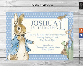 CLASSIC PETER RABBIT Party Invitation