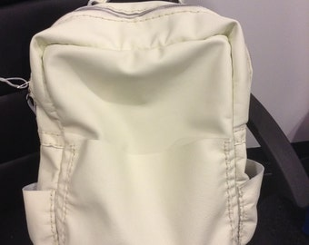 Soft White  Leather back pack  /unisex handmade bag  /unique /durable  bag