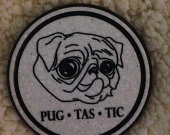 Set of Two Pug tastic Coasters