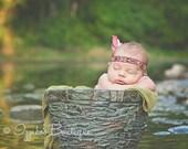 Newborn Crown headband,Baby boy Headband, Newborn Headband, Photo prop, Infant boy Headband