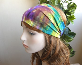 Multicolor Turban Womens Headband Workout Headband Yoga Headband Wide Head Wrap Turband Hair Accessory Stretch Headband Womens Gift for Her