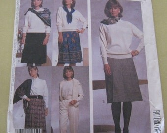 McCall's 3306 Pattern 1990's Misses'  Skirt and Pants 12-16 Vintage