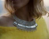 SALE Isis - Stunning Crystals Wedding Necklace, Statement Necklace - Ready to Ship