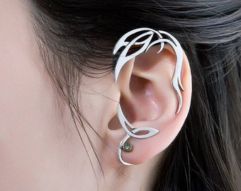 Ornamental  earcuff | Sterling silver ear cuff