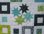 BABY QUILT PATTERN Tutorial pdf - Baby Stars - Small Quilt