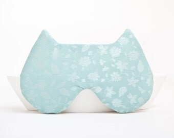 Sleep Mask Cat, Mint, gift for her