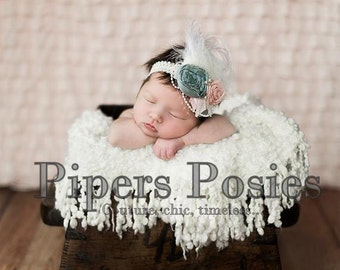 Olivia - Couture Rolled Rosette Headband