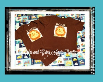 """Little Lion """"Roar"""" Boys Sibling Set - Available in 6 months to 6 years"""