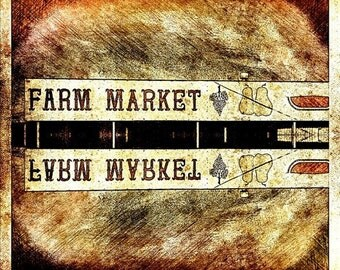 Farm Market Reflection Photo Print