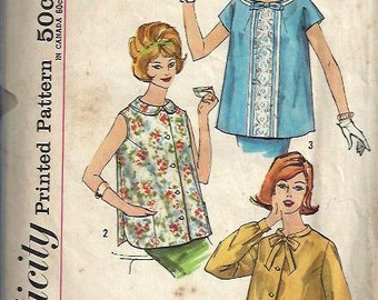 Early 1960s Maternity Top Pattern, Simplicity 3925, Size 12, Bust 32