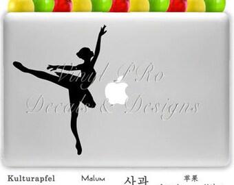 Ballet Dance Studio Dancer Pirouette Ballerina Decal For Macbook  or Car Window