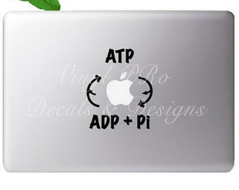 ATP Biological Energy Cellular Formula Equation Physics Biotech Decal for Apple Macbook