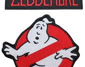 Ghostbusters Zeddemore Name Tag & No Ghost Uniform Applique Patch