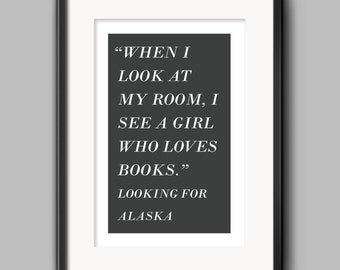 Books - Looking for Alaska Poster