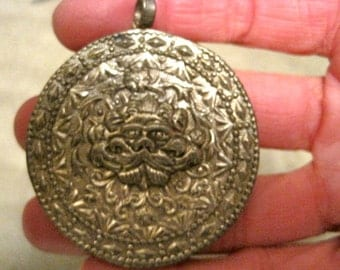 Round Tribal PENDANT from India