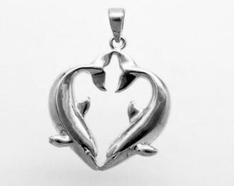 DOLPHIN CHARM  in 925 Sterling Silver 8-12