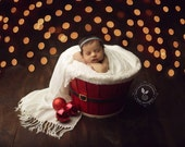 Newborn halo headband - orange, gold, teal, emerald - photography prop