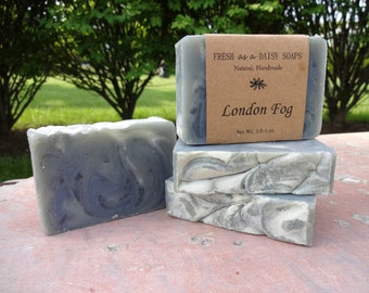 London Fog, Natural Handmade Soap, Cold Process, Vegan, Men's Soap