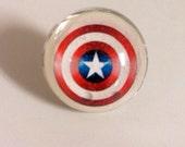 Captain America Ring - Captain America - Shield - Ring - Captain America Jewelry - Star Ring -Super Hero