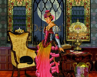 Victoriana. This is an 11x14 double matted, unframed, hand signed limited edition print.