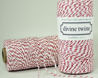 Cherry Divine Twine Baker's Twine 240 Yards, Full Spool