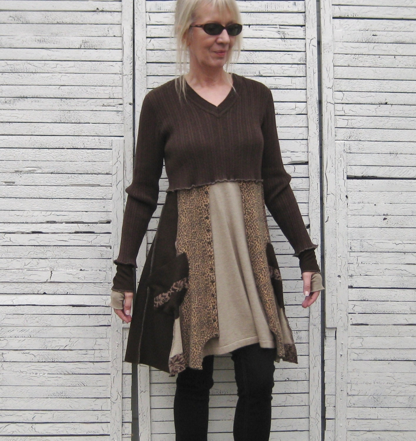 Sweater Tunic Upcycled Clothing Recycled Sweaters Baby Doll