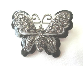 Butterfly pin with marquisites