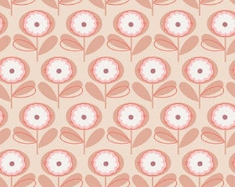 Art Gallery Fabric - 1/2 Metre Littlest - Petals in Melon / Ships from Australia