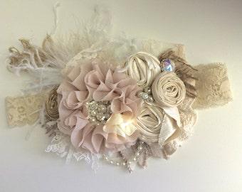 Baby Girl Headband- Baby Headband- Flower Girl Headband- Dollcake- tutu du monde-Well Dressed Wolf Headband-Girls Headband-Hair Bow