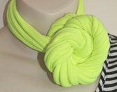 Upcycled Neon Yellow Jersey Infinity Scarf