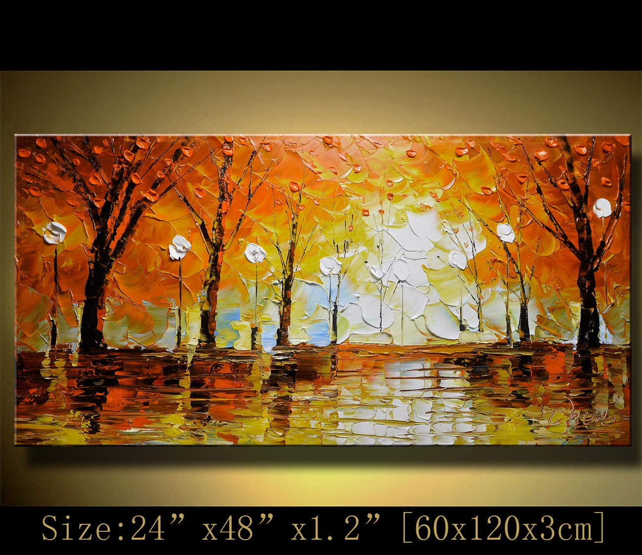 Abstract acrylic painting on canvas art paintings modern for Palette knife painting acrylic