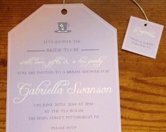 Tea Bag Invitation Etsy