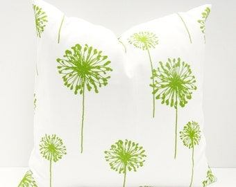 Decorative Throw Pillow Cover Lime Green Pillow Green Cushion Kids Bedding Kids pillow Cover Printed fabric both sides housewares Kelly