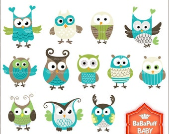 Owls Clipart ---- Personal and Small Commercial Use ---- BB 0485