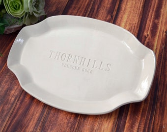 Wedding Gift or Housewarming Gift - Custom Platter - Gift Boxed & Ready To Give