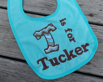 Chevron Personalized Baby Bib, Monogrammed Bib, Baby Shower Gift, 1st Birthday Gift, Toddler Gift, Chevron Baby Decor, Chevron Photo Prop