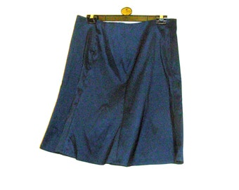 Shopping, Clothes,Navy Skirt - Panel Skirt - Midi Skirt - Knee Length Skirt - Size 18 - Size 16 - By Rebeccas Clothes