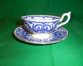 One (1), Bone China, Footed Tea Cup & Saucer, from Coalport China, in the 5012 Pattern.