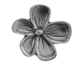 Danforth Posey 15/16 inch ( 24 mm ) Pewter Metal Button