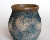 navy blue stoneware tumbler