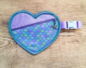 Mermaid Fannypack- Green Lace and Piping with Sequins