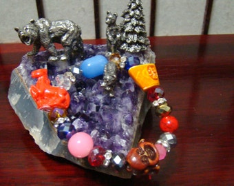 044,Feng Shui Bracelet, Chinese Zodiac Charm Bracelet, Charm Beaded Bracelet,Lucky charm Bracelet, Chinese Animals Zodiac Bracelet.