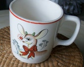 Rudolph The Red Nose Reindeer 1950s Christmas Movie Memorablia Mug