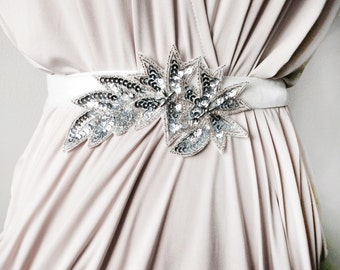 Sparkling beaded Sash