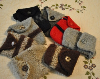 Hand knit wool  felted Cellphone Cases