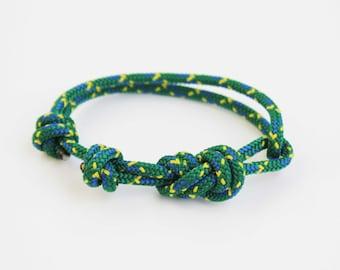 Thick Rope Bracelet - Unisex Figure 8 Rock Climbing Bracelet - Green